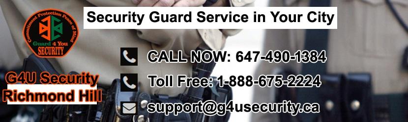 Richmond Hill Security Guard Companies